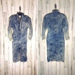 My Michelle Vintage 80's Acid Wash Dress Size 7/8